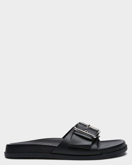BLACK WOMENS FOOTWEAR SOL SANA SLIDES - SS212W501BLK