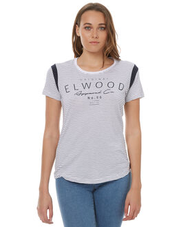 NAVY STRIPE WOMENS CLOTHING ELWOOD TEES - W73109NAVY