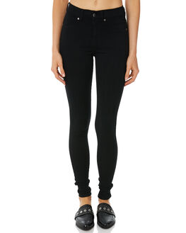 BLACK WOMENS CLOTHING DR DENIM JEANS - 1130101101