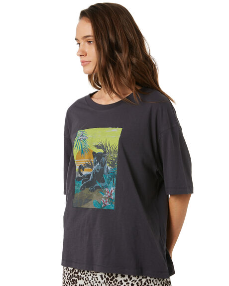 WASHED VINTAGE BLACK WOMENS CLOTHING THE HIDDEN WAY TEES - H8202273WHVBK
