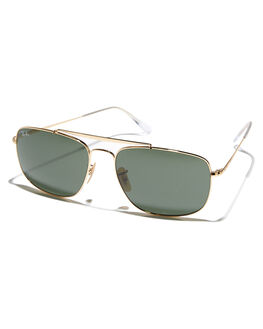 GOLD GREEN MENS ACCESSORIES RAY-BAN SUNGLASSES - 0RB3560GLDGR