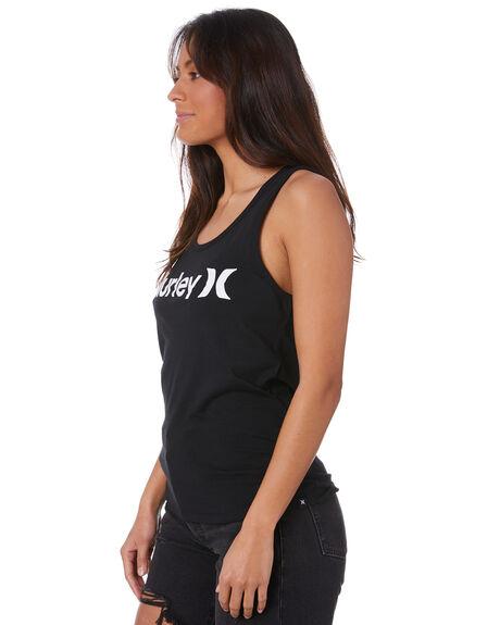 BLACK WOMENS CLOTHING HURLEY SINGLETS - CV5617010