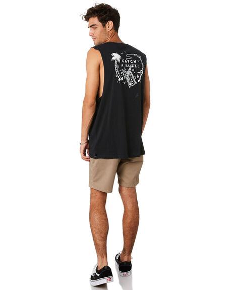 BLACK MENS CLOTHING VOLCOM SINGLETS - A4501977BLK