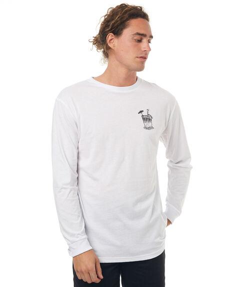 WHITE MENS CLOTHING VONZIPPER TEES - 3972020WHT