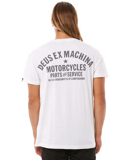 WHITE MENS CLOTHING DEUS EX MACHINA TEES - DMW41808AWHI