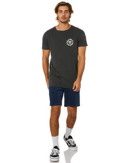 DIRTY BLACK MENS CLOTHING BANKS TEES - WTS0460DBL