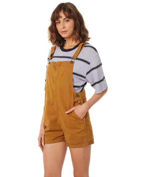 AMBER WOMENS CLOTHING AFENDS PLAYSUITS + OVERALLS - W183885-AMB