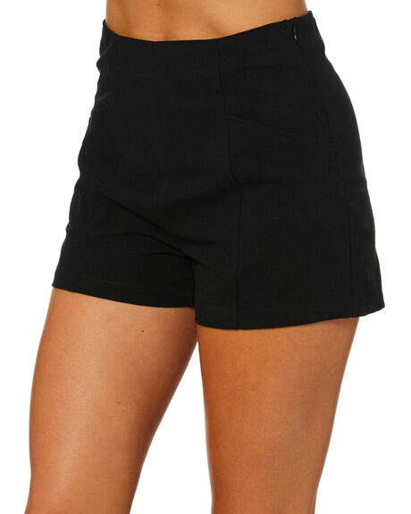BLACK WOMENS CLOTHING RUSTY SHORTS - WKL0705BLK