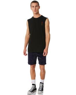 BLACK MENS CLOTHING SWELL SINGLETS - S5174278BLACK