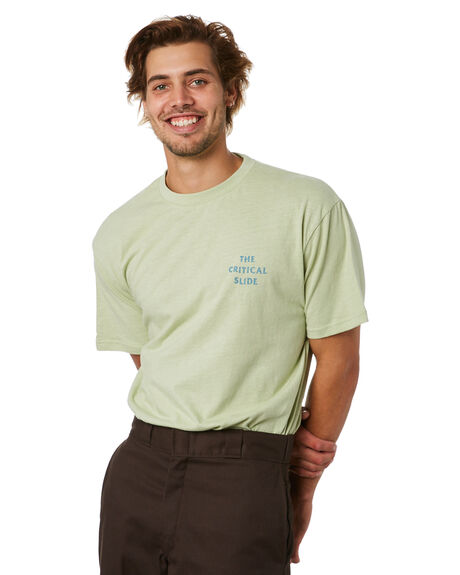 LAUREL GREEN MENS CLOTHING THE CRITICAL SLIDE SOCIETY TEES - TE18247LRGRN