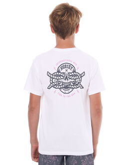WHITE KIDS BOYS HURLEY TEES - ABTSTIDS10A