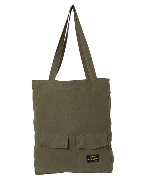 OLIVE GREEN MENS ACCESSORIES MISFIT BAGS + BACKPACKS - MT705007OLI