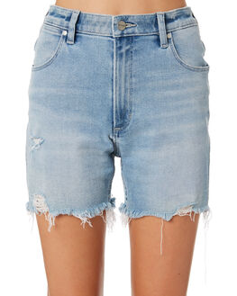 LUNAR BLUE WOMENS CLOTHING WRANGLER SHORTS - W-951558-ML7