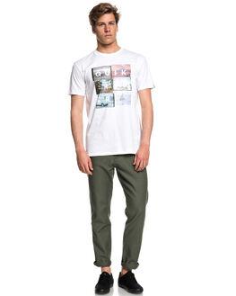 WHITE MENS CLOTHING QUIKSILVER TEES - EQYZT04947WBB0