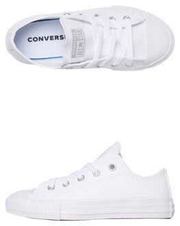 WHITE KIDS BOYS CONVERSE SNEAKERS - 665595CWHT