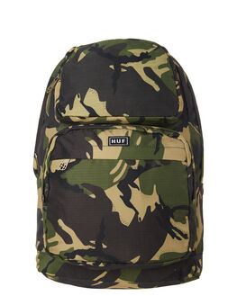 DEEP OLIVE MENS ACCESSORIES HUF BAGS + BACKPACKS - AC00186DPOL