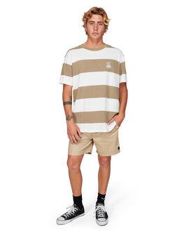 DUST YELLOW MENS CLOTHING RVCA TEES - RV-R192047-DYL