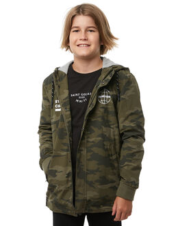 CAMOUFLAGE KIDS BOYS ST GOLIATH JACKETS - 2413026CAMO