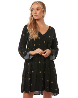 BLACK STARDUST WOMENS CLOTHING ALL ABOUT EVE DRESSES - 6413021BLK