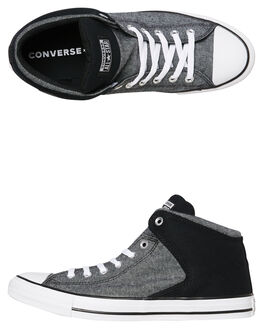 BLACK WHITE MENS FOOTWEAR CONVERSE SNEAKERS - 164709CBLKW