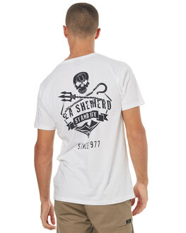 WHITE MENS CLOTHING SEA SHEPHERD TEES - SSA836BWHT