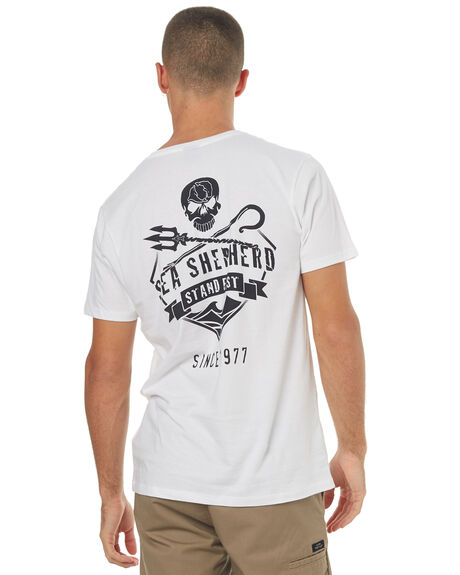 WHITE MENS CLOTHING SEA SHEPHERD TEES - SSA836BWHT