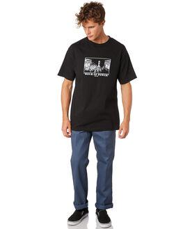 BLACK MENS CLOTHING PASS PORT TEES - PPHOURBLK