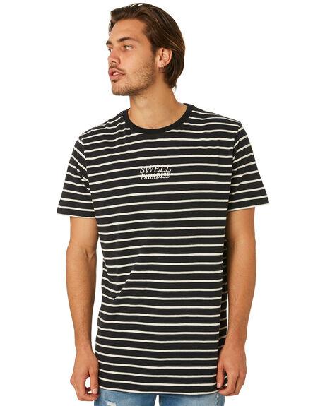 BLACK MENS CLOTHING SWELL TEES - S5182004BLACK