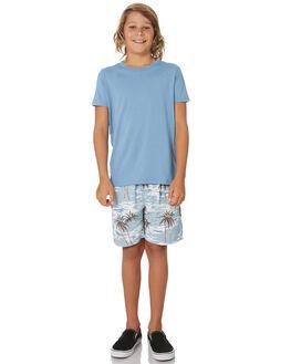 CAROLINA BLUE KIDS BOYS AS COLOUR TOPS - 3006-CBLU