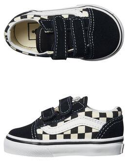 BLACK WHITE KIDS BOYS VANS FOOTWEAR - VNA38JNPOSBLK