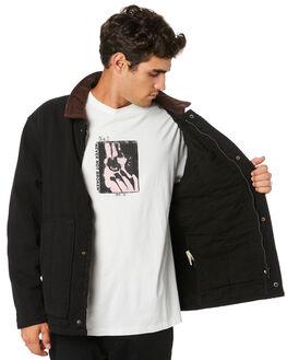 BLACK MENS CLOTHING THRILLS JACKETS - TW20-214BBLK