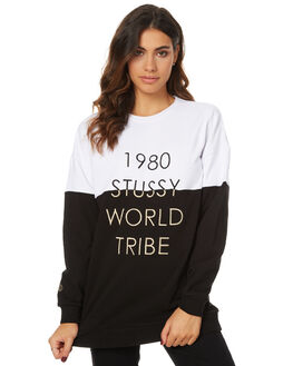 BLACK WOMENS CLOTHING STUSSY JUMPERS - ST176302BLK