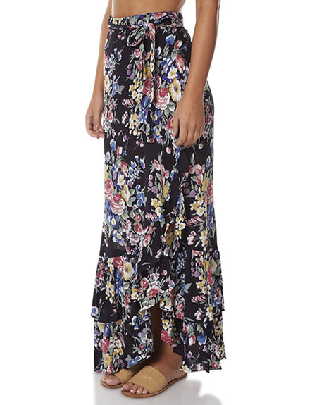 BAMBI BLOOM BLACK WOMENS CLOTHING AUGUSTE SKIRTS - AUG-SM1-16611BBB