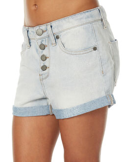 BLEACHED DENIM KIDS GIRLS ROXY SHORTS - ERGDS03031BEZW