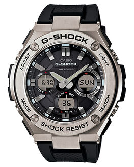 STAINLESS BLACK MENS ACCESSORIES G SHOCK WATCHES - GSTS110-1ASBLK