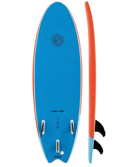 ORANGE/BLUE BOARDSPORTS SURF GNARALOO GSI SOFTBOARDS - GN-FLOPO-ORBL