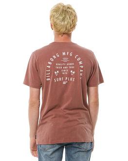 WASHED BRICK MENS CLOTHING BILLABONG TEES - 9585001WBRK