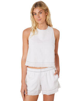 WHITE WOMENS CLOTHING NUDE LUCY FASHION TOPS - NU23473WHT