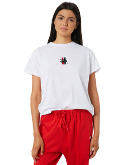 WHITE WOMENS CLOTHING STUSSY TEES - ST195014WHT