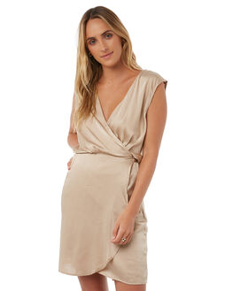 CHAMPAGNE WOMENS CLOTHING LILYA DRESSES - SKD26-LSP17CHA