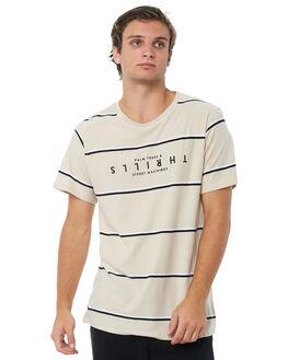 WIDE STRIPES MENS CLOTHING THRILLS TEES - TA8-138AZWSTRP
