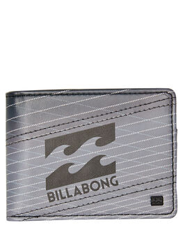 BLACK GREY MENS ACCESSORIES BILLABONG WALLETS - 9695196BBLKG