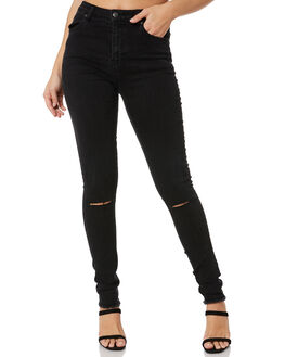 BLACK WOMENS CLOTHING RUSTY JEANS - PAL1156BLK