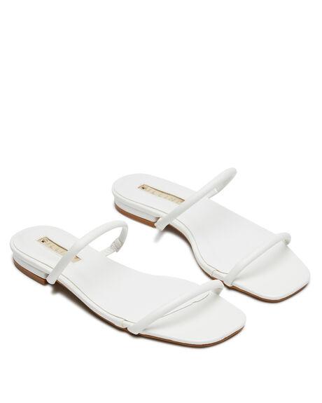 WHITE WOMENS FOOTWEAR BILLINI SLIDES - S703WHITE