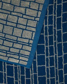 BLUE MENS ACCESSORIES LEUS TOWELS TOWELS - 02JWSTBLBLU
