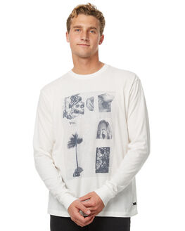 ANTIQUE WHITE MENS CLOTHING RVCA TEES - R371093AWHT