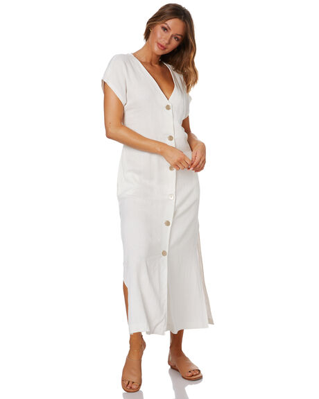 WHITE WOMENS CLOTHING NUDE LUCY DRESSES - NU23990WHT