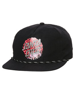 BLACK KIDS BOYS SANTA CRUZ HEADWEAR - SC-YCA8088BLK