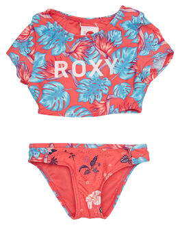 RED ABYSSAL TROPICAL KIDS TODDLER GIRLS ROXY SWIMWEAR - ERLX203045MLJ6