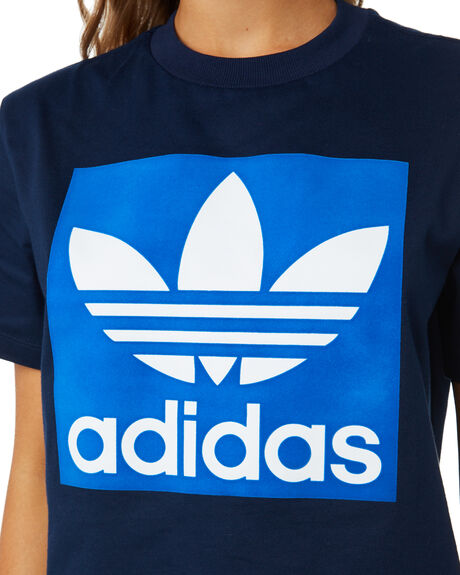 COLLEGIATE NAVY WOMENS CLOTHING ADIDAS TEES - ED7466NVY